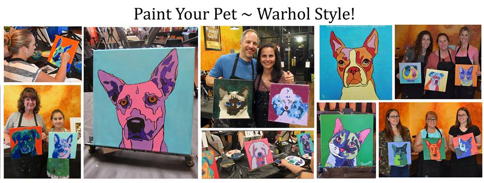 Collage paint your pet warhol
