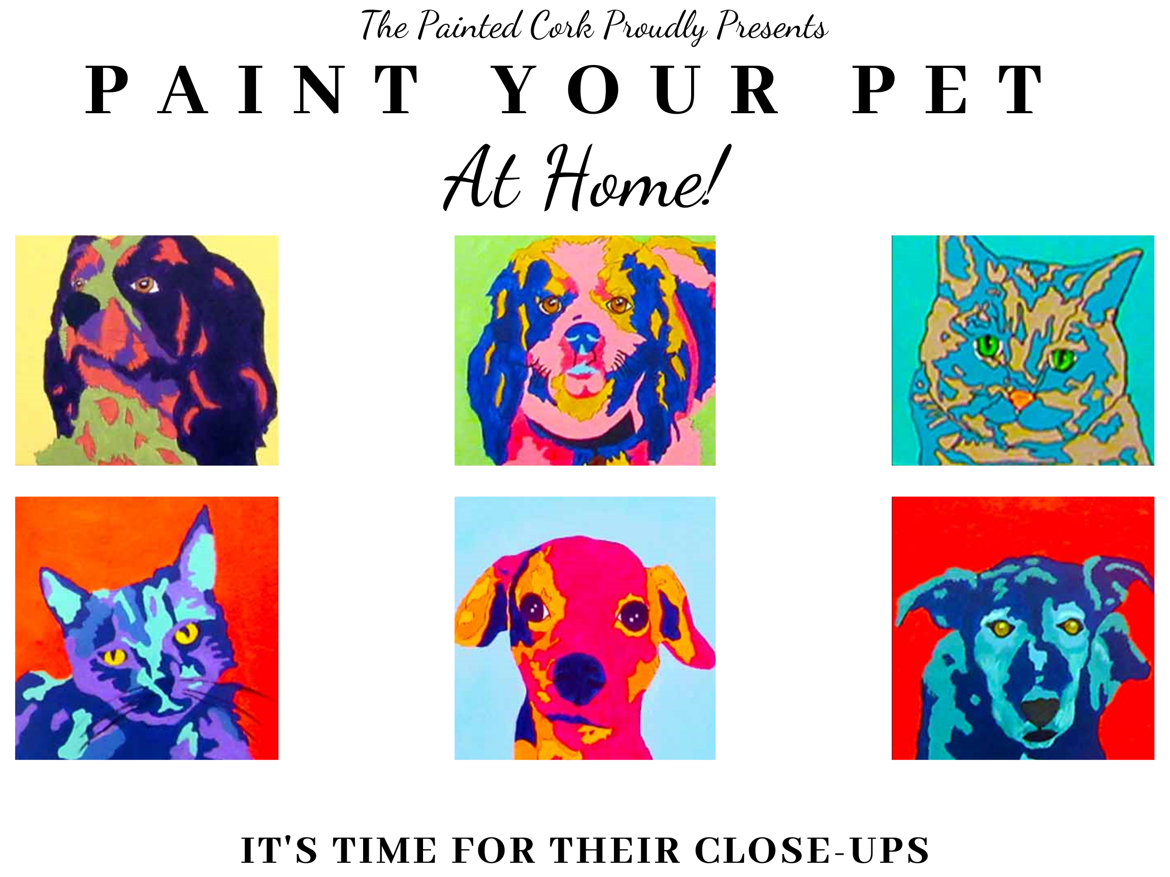 The Painted Cork Presents Paint Your Pet - AT HOME!