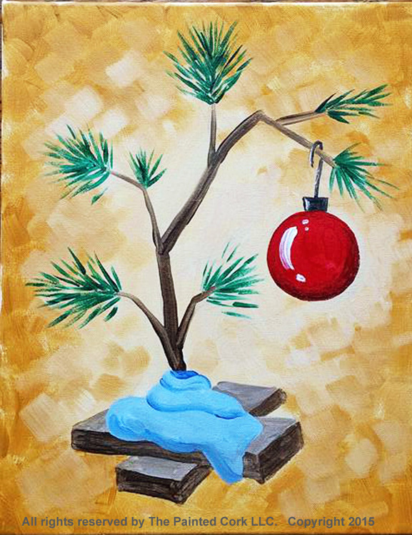 Sacramento Studio 1130 Charlie Brown Christmas Tree 2 Hour Class