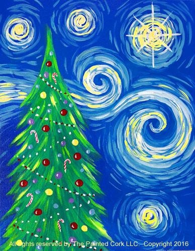 santa cruz studio 11 23 starry night christmas tree ages 21 and