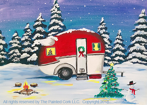 Shasta Camper ~ Christmas Vacation