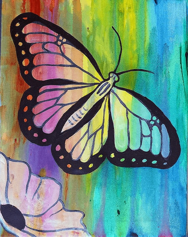 view all painting class portfolio pieces of the painted cork