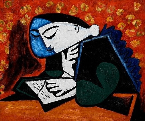 Picasso's Girl with a Book