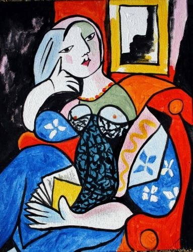Picasso's Woman with a Book