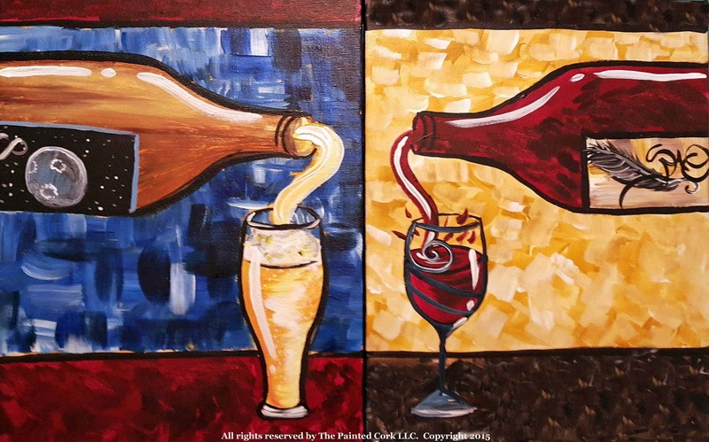 Wine or Beer ~ Double Canvas Version