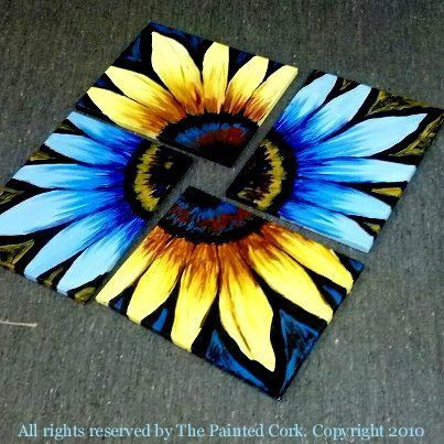 Sunflower ~ 2 canvas
