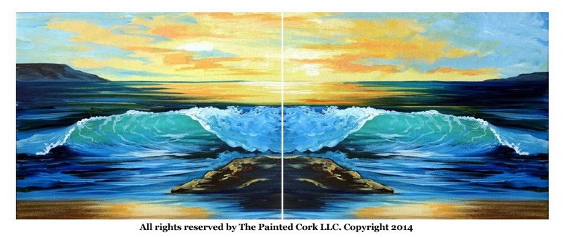 The Crashing Wave ~ Double Canvas Version
