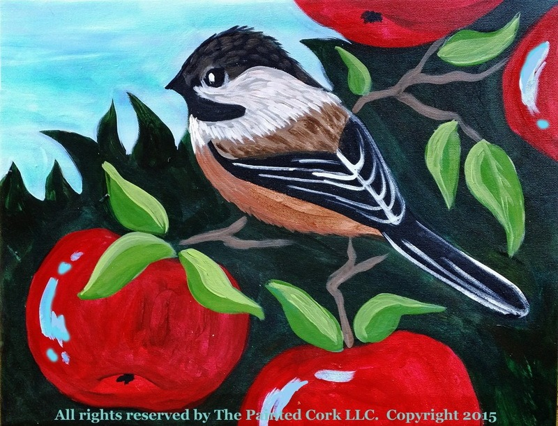 Chickadee in an Apple Tree