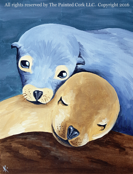 Sea Lion Snuggle