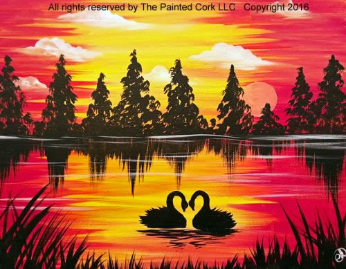 Swan Lake Sunset