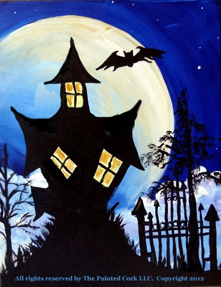 Blue Moon with Spooky House