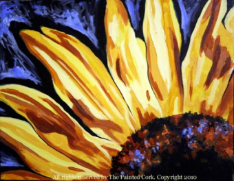 IN STUDIO CLASS ~ Sacramento Studio 6/12: Sunflower ~ EARLY BIRD SPECIAL ~ $10 Off! ~ Ages 21 and up