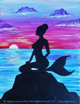 Sacramento Studio 7/16: Mermaid Sunset ~ All ages welcome! ~ No Alcohol Event