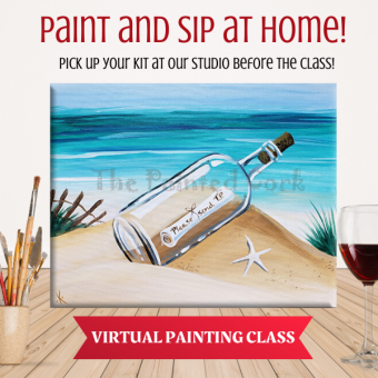 VIRTUAL CLASS 7/17: Message in a Bottle ~ PAINT AT HOME ONLINE!