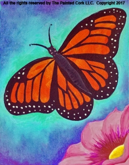 IN STUDIO CLASS ~ Folsom Family Room 6/7: Monarch Butterfly ~ GRAND RE-OPENING SPECIAL ~ ONLY $30!  All ages welcome!