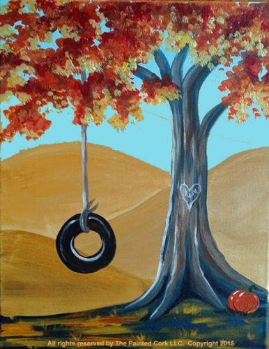 Autumn Swing - Acrylic Painting Tutorial