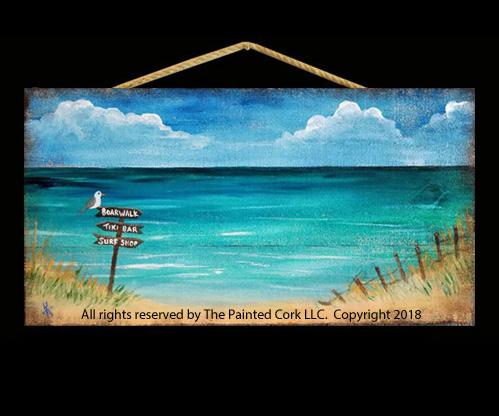 Beach Sign - Acrylic Painting Tutorial