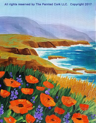 California Coast - Acrylic Painting Tutorial