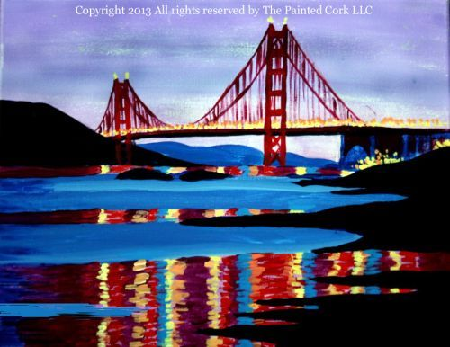 Golden Gate Reflections - Acrylic Painting Tutorial