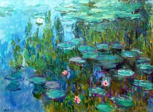Monet's Waterlilies #2 - Acrylic Painting Tutorial