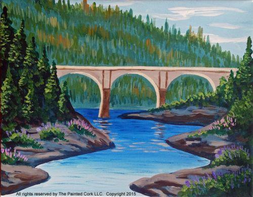 No Hands Bridge of Auburn CA - Acrylic Painting Tutorial